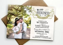 post wedding reception invitations post wedding reception invitation we got hitched 2457430