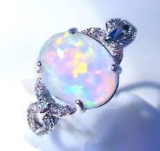 size 9 ring in uk uk amazing oval white opal cz ring uk size r us size 9
