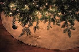 burlap christmas tree skirt rustic christmas tree skirt idlewildalaskaidlewild alaska