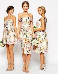 floral print bridesmaid dress floral print wedding dress gown and dress gallery