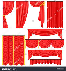 different types theatrical stage curtain drapes stock vector