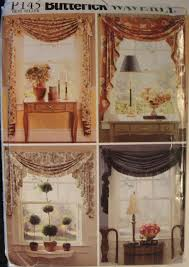 window treatments valances sewing pattern swags window treatment