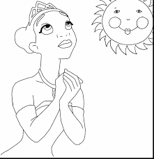 amazing disney coloring pages with princess tiana coloring