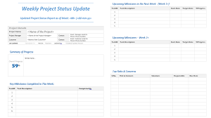 project weekly status report template excel weekly project status update template analysistabs innovating