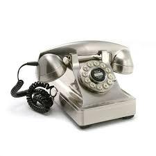 Desk Telephones Crosley Chrome Model 302 Desk Phone Reproduction Telephones