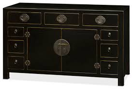ming style black distressed sideboard asian buffets and