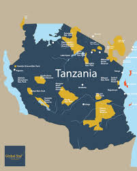 Tanzania Map Tanzanian Map U2013 Global Star Tours U0026 Travel Ltd