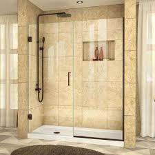 Shower Doors Pivot Pivot Hinged Shower Doors Showers The Home Depot