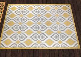 Modern Yellow Rug Second Marketplace Critters In The Attic Yellow Grey