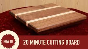 Making A Basic End Table by Making A Cutting Board In 20 Minutes Youtube