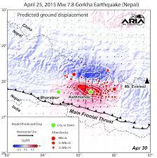 radar shows kathmandu area uplifted 5 feet by gorkha nepal