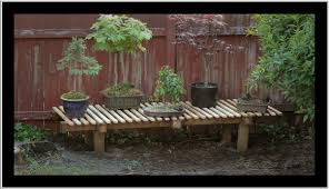 Best Material For Patio Furniture - new bonsai display bench i created from materials used for