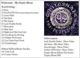 purple photo album whitesnake the purple album rock zone uk