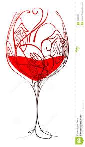 disegni bicchieri bicchiere di vino stilizzato foto stock iscriviti gratis