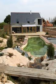 Eco Friendly House Ideas Organic Bioclimatic House In Brittany With Eco Friendly Landscaping