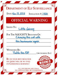 elf letter template free elf warning for naughty kids
