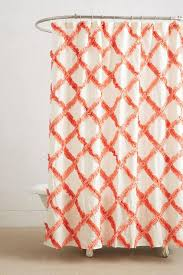 Orange Shower Curtains Trellis Orange Shower Curtain