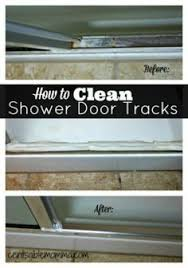 the secret to sparkling shower doors that you only have to clean