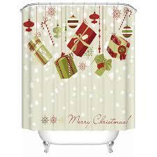 Discount Christmas Shower Curtains Aliexpress Com Buy Christmas Shower Curtian 3d Fabric Waterproof