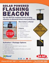 solar powered flashing yellow light sa so traffic safety and facility products solar powered flashing