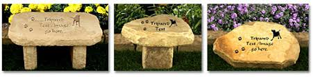 remembrance items tripawds gifts garden pet memorial headstones benches
