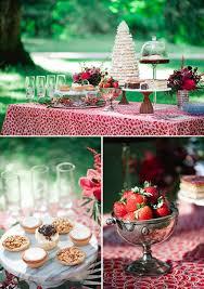 scandinavian red and black rustic wedding