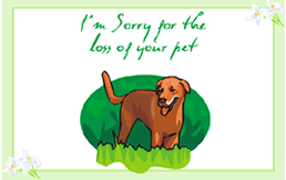 sympathy for loss of dog printable pet sympathy pet loss condolence greeting cards