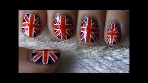 tutorial nail art one direction union jack british flag nail art youtube