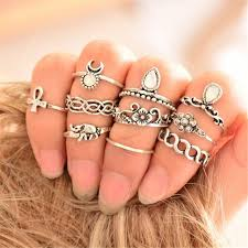 knuckle rings silver images Midi finger ring set fashion punk gold silver knuckle rings for jpg