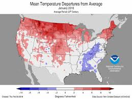 temperature map usa january national climate report january 2016 state of the climate