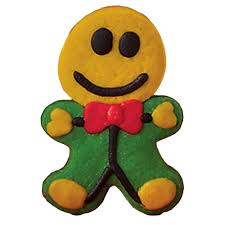 use your gingerbread man cookie cutter to create these fun smiley