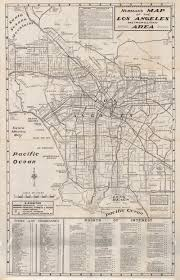 Los Angeles Area Map by See L A Through The Eyes Of A Newcomer With This 1960s Map Los