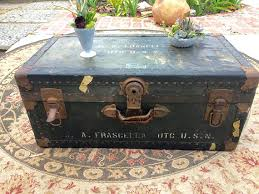 vintage trunk coffee table vintage trunk coffee table home design