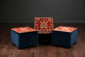 cube ottoman with antique persian rug mecox gardens