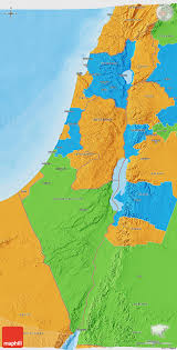 Map Of Isreal Political 3d Map Of Israel