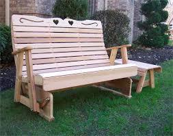 Lifetime Glider Bench Treatment Wooden Gliding Bench Outdoor U2014 Decor U0026 Furniture
