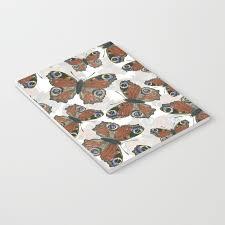 peacock butterfly pattern notebook by katerinamitkova society6