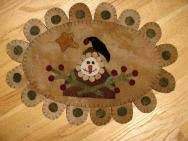 Snowman Rug Penny Rug Runners And Mats