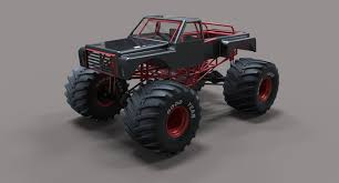 bigfoot monster truck cartoon monster truck bigfoot 3d model cgtrader