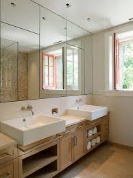Undersink Cabinet Bathroom Under Sink Cabinet With Contemporary Vessel Sinks