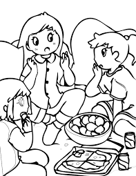 sleepover coloring page handipoints