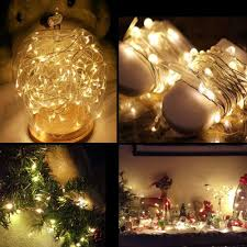 Starry String Lights Amber Lights On Copper Wire by 8x 20 Led Fairy String Lights Starry Rope Copper Wire Lights