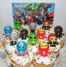 marvel cake toppers marvel deluxe mini cake toppers