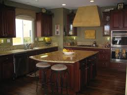 green kitchen walls brown cabinets alkamedia com