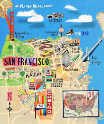 san francisco map 21 gorgeous illustrated maps of san francisco upout