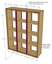 Wooden Bookcase Plans Free by Ana White Rolling Room Divider Cubbies Diy Projects