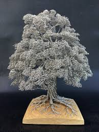 dense wire tree sculptures by clive maddison colossal wire