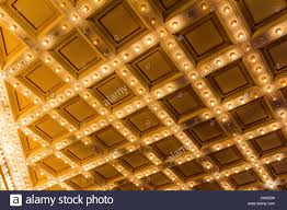 Ceiling Art Lights by Marquee Lights On Broadway Theater Art Deco Ceiling Stock Photo