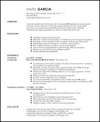 Technician Resume Samples by Veterinary Technician Resume Haadyaooverbayresort Com