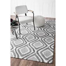 nuloom handmade trellis modern ikat wool area rug 7 u00276 x 9 u00276